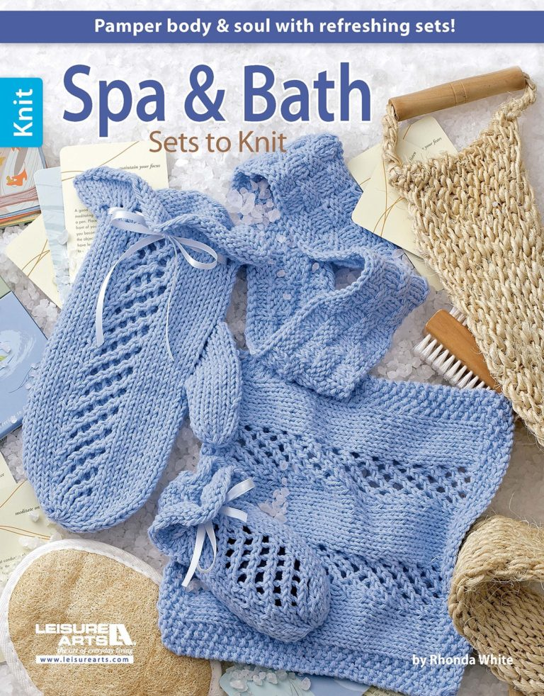 Knitting Patterns for Spa and Bath Sets
