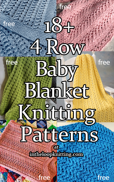 4 Row Baby Blanket Knitting Patterns