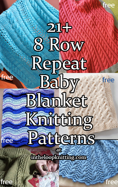 8 Row Repeat Blanket Knitting Patterns