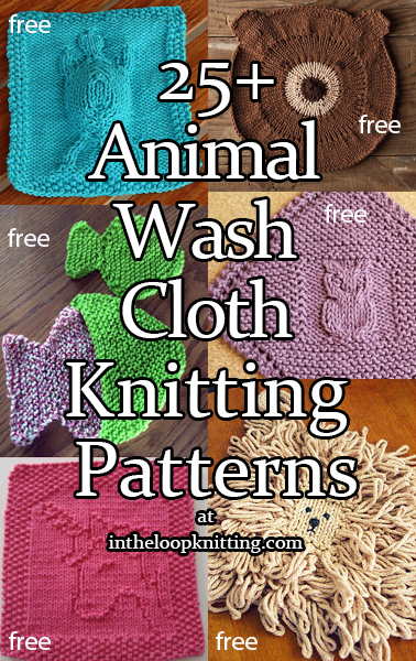 Animal Cloth Knitting Patterns