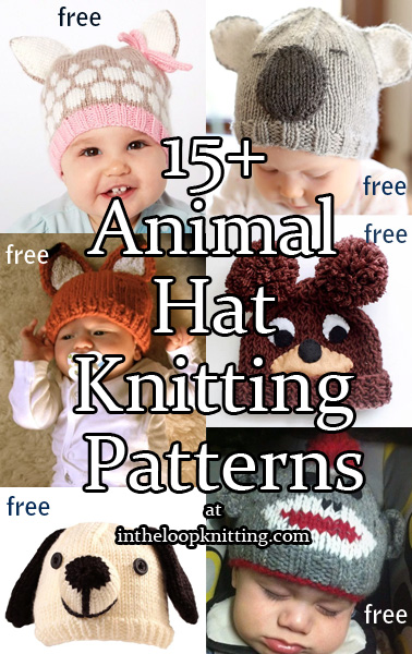 ce32d780c91 Knitting patterns for Animal Hats. What makes a baby even cuter  A cute  animal