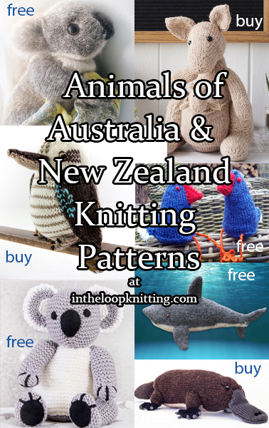 Knitting patterns for toys and other projects inspired by animals and birds native to Australia and New Zealand. Most patterns are free.
