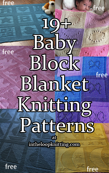 Block Baby Blanket Knitting Patterns. Babies and blocks go together – especially in these easy blanket patterns created from repeated motifs in block designs. Most use just knit and purl stitches or eyelets to create the designs. You can even knit just one of the blocks to make matching baby wash cloths. I would strongly recommend you get a yarn with great stitch definition. Consider cotton, wool, or blends. Most patterns are free.