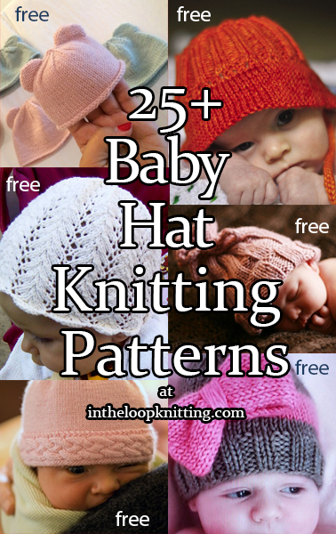 2c65e24ad52 Knitting patterns for Baby Hats. Baby sized beanies