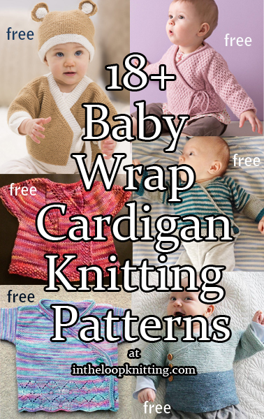 Baby Wrap Sweater Knitting Patterns