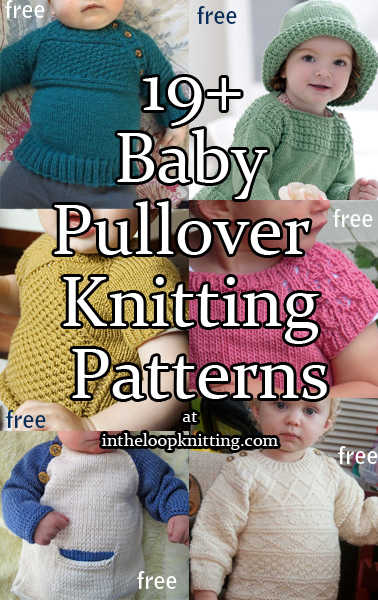 d10de8850bb8b Easy-On Pullovers for Babies and Children Knitting Patterns. Knitting  patterns for baby pullover