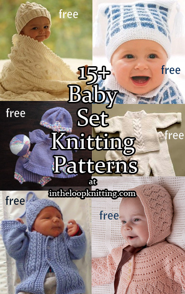 e1b8ed7e1338 Baby Layette Set Knitting Patterns - In the Loop Knitting