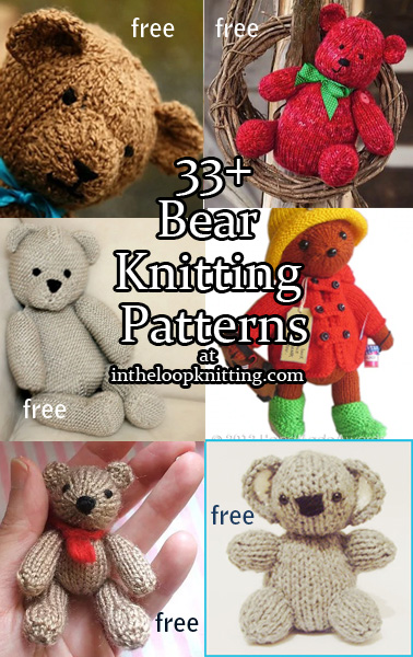 Teddy Bear Knitting Patterns In The Loop Knitting