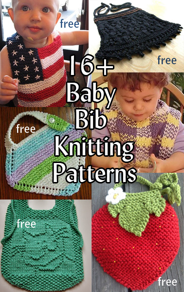Baby Bib Knitting Patterns. These practical and adorable baby bibs are perfect baby shower gifts! Most patterns are free.