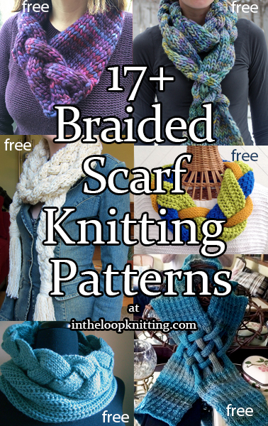 Braided Scarf Knitting Patterns