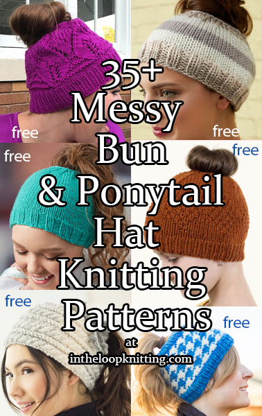 Messy Bun And Ponytail Hat Knitting Patterns In The Loop Knitting