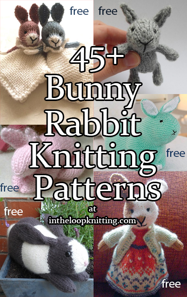 79a1a1cf0 Bunny Rabbit Knitting Patterns. Knitting patterns for rabbit inspired toy  softies