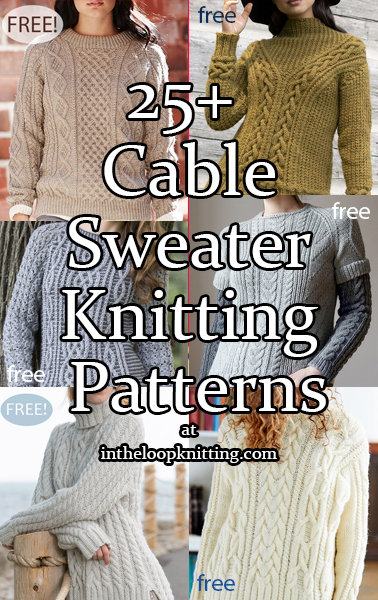 Cable Pullover Knitting Patterns