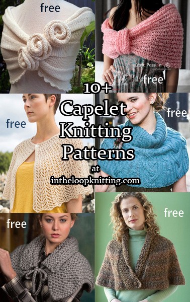 Capelet Knitting Patterns. Knitting patterns for capelets from romantic to lace to casual. Most patterns are free.