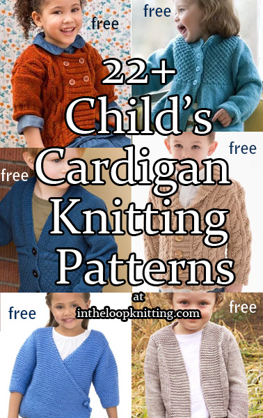 44a2de3a1c9 Cardigans for Children Knitting Patterns. Knitting patterns for cardigan  sweaters for girls and boys.
