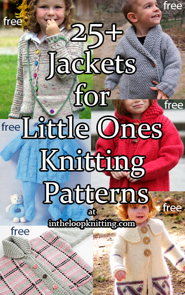 Coats and Jackets for Little Ones Knitting Patterns. Knitting patterns for outerwear to keep babies and children warm.  Most patterns are free.