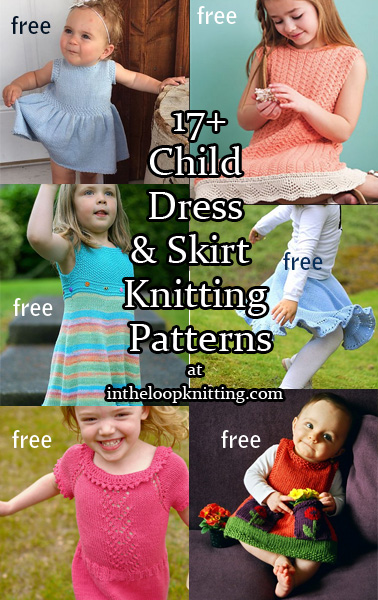 24d0e1c1e Dresses and Skirts for Babies and Children Knitting Patterns - In ...