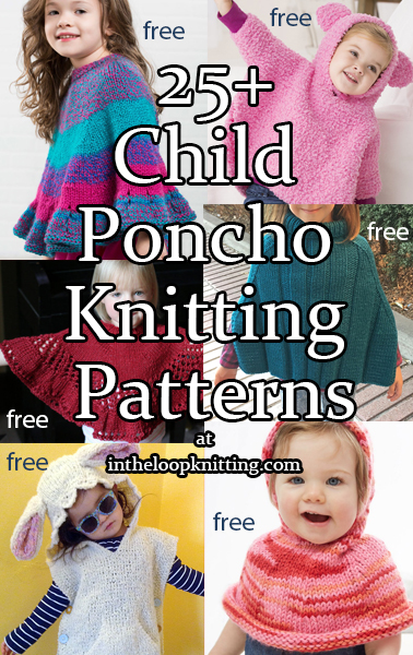 Ponchos For Babies And Children In The Loop Knitting