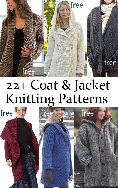Jacket And Coat Knitting Patterns In The Loop Knitting