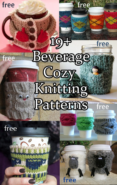 Cup Cozy Knitting Patterns Knitting Patterns