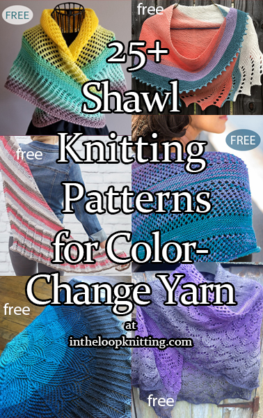 Color Change Shawl Knitting Patterns