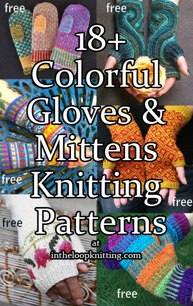 Colorful Mittens And Gloves Knitting Patterns In The Loop Knitting