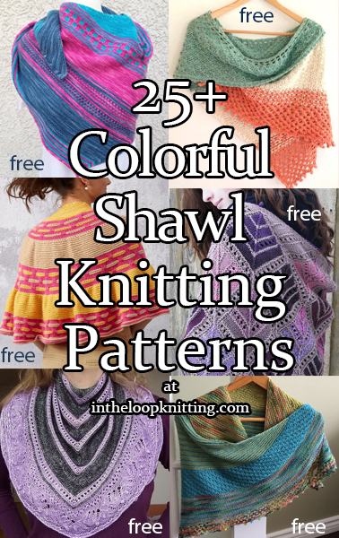 Colorful Shawl Knitting Patterns