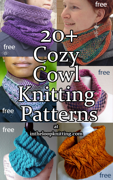 Close Cowl Knitting patterns for close-fitting cowls or gaiters. Great for keeping warm and covering up masks. Many of the patterns are free. Most patterns are free.