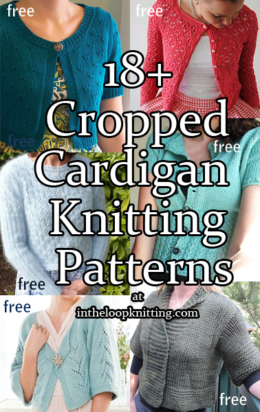Cropped Cardigan Knitting Patterns - In the Loop Knitting