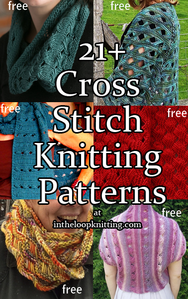 Indian Cross Stitch Knitting Patterns. I've always been fascinated by cross stitch knitting stitch, also called the criss cross stitch, the Indian cross stitch, or the yarnover cross stitch. Just by wrapping, slipping, and dropping the stitches in a couple of rows, you can get a unique construction that is sure to get compliments.