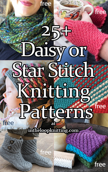Daisy Stitch Knitting Patterns