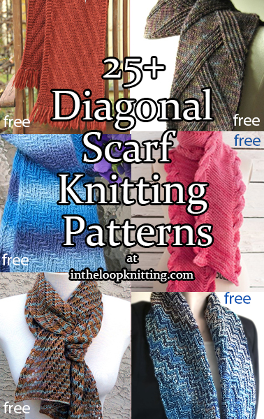 Diagonal Scarf Knitting Patterns