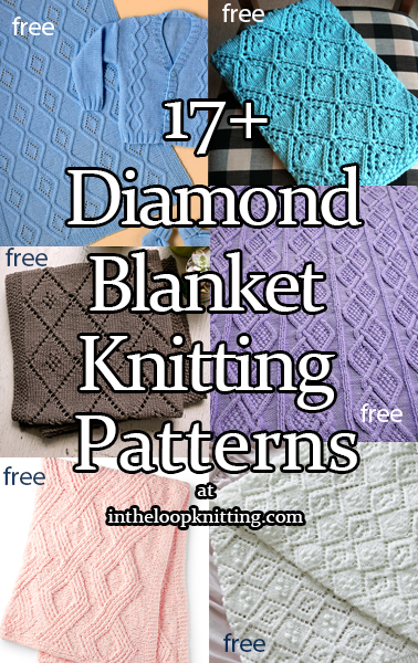 Diamond Baby Blanket Knitting Patterns