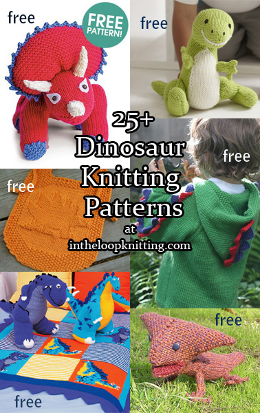 2224f62ac7320f Dinosaur Knitting Patterns. Knitting patterns for everyone s favorite  prehistoric animals – dinosaur toys