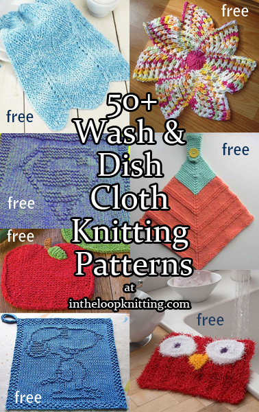 Dishcloth and Washcloth Knitting Patterns. Most patterns are free.