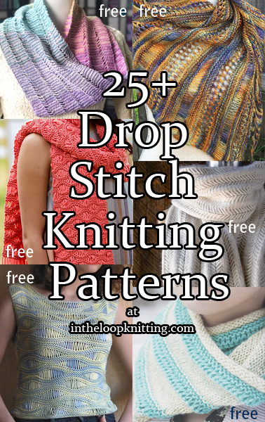"Drop Stitch Knitting Patterns. We all know that ""uh oh"" feeling when we've dropped a stitch. These patterns drop stitches intentionally to turn that ""oh no"" to ""oh wow"" in patterns for tops, scarves, cowls, shawls, blankets, and more. Most patterns are free."