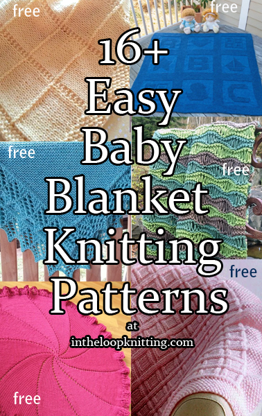 easy knit baby blanket pattern free