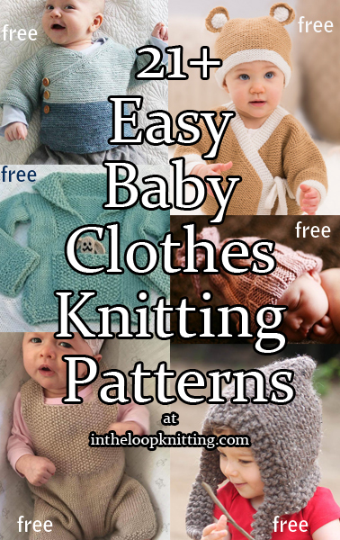 Easy Baby Knitting Patterns. These baby clothes, sweaters, hats, booties, and more were rated easy by the designers or other knitters. Most patterns are free.