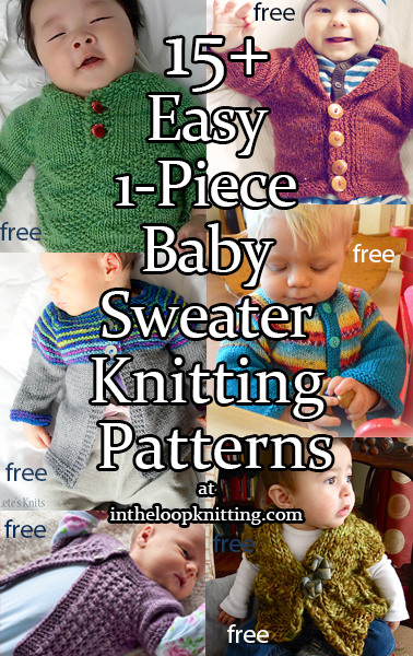 Easy One Piece Baby Sweater Knitting Patterns In The Loop Knitting
