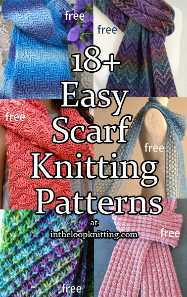 5c9dcf3057582 Easy Scarf Knitting Patterns. Go beyond garter stitch with these scarf  patterns that have been