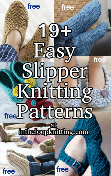 9ae75928551b1 Easy Slipper Knitting Patterns - In the Loop Knitting