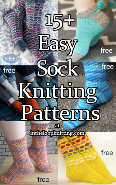 Easy Sock Knitting Patterns. Knitting patterns and tutorials for easy and beginner level socks. Most patterns are free.