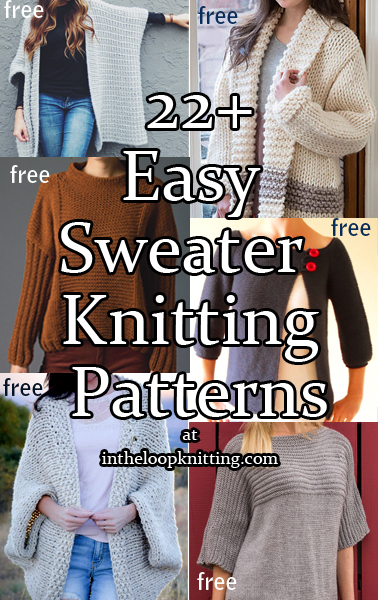 0245dc087ea518   Easy Sweater Knitting Patterns. Patterns for pullovers