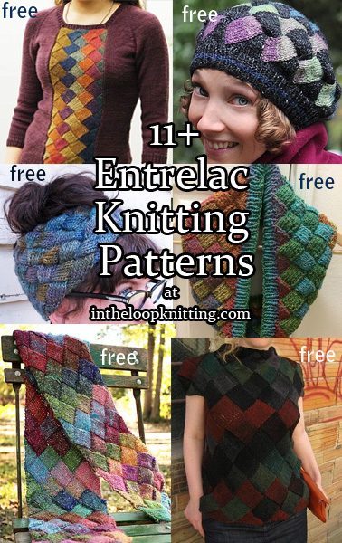 Entrelac Knitting Patterns. Entrelac is a knitting technique made with basic knitting stitches to form squares that are joined by picking up stitches on the edge of one square to start the next square. It can be knit in one or more colors and is a great way to showcase multi-colored yarn.