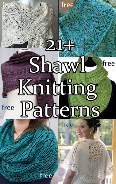 Shawl and Wrap Knitting Pattterns. A variety of shawl patterns including lace, textured, easy, one skein, and more.