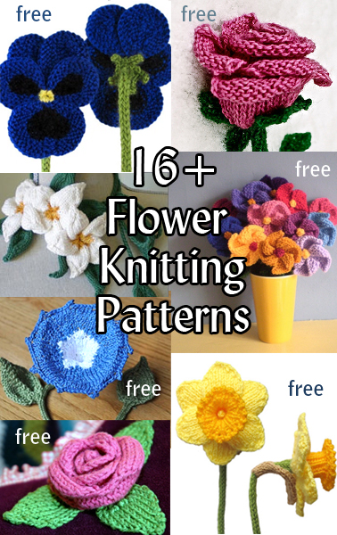 Flower Knitting Patterns In The Loop Knitting