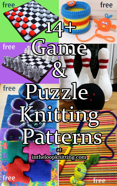 Games Knitting Patterns. Play favorite games with knitting projects for board games, balls, puzzles, and more. Most patterns are free.