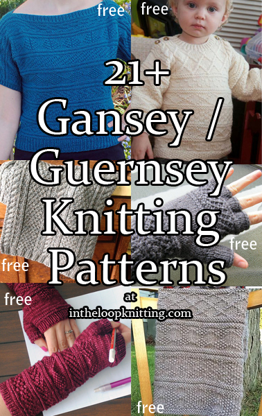 ea2a63f4819d Gansey or Guernsey Knitting Patterns - In the Loop Knitting