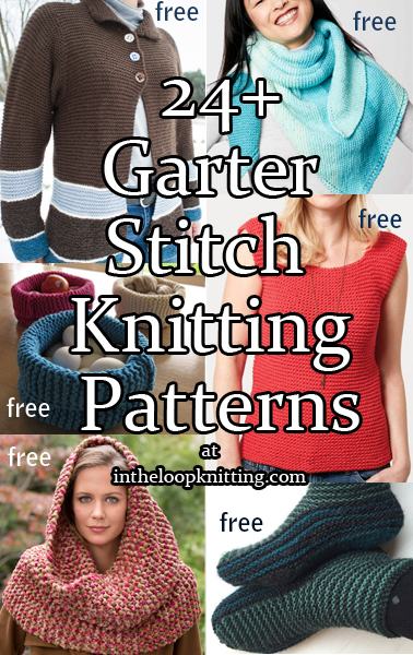 166bced2fa9 Garter Stitch Knitting Patterns. Garter stitch (knit every row) is the  easiest stitch