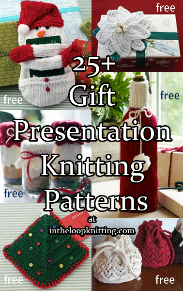 Gift Presentation Knitting Patterns. Knitting patterns for Gift Bags, Gift Card Holders, Gift